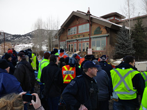 Occupy Ski Howme protesters provided a series of demands and goals, including a greater awareness of the plight of the 99 Percent who find Ski Howme too expensive yet shop there anyway.