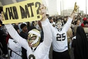 "New Orleans Saints' officials pleaded with its fan base to ""not be like this guy,"" who had moments before tattooed the Saints logo on his balls."