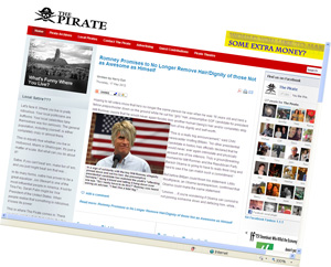 The Pirate Web site surprised a wide variety of continuously disappointed mothers and pessimistic spouses by still existing after an entire trip around the sun.
