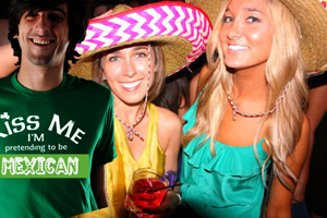 "Under a new Irish/Mexican treaty, white Cinco de Mayo partygoers must demonstrate a tiny bit of cultural effort to partake in the day's binge drinking, beyond just slurring ""ya ya ya, arriba, arriba!!!"""