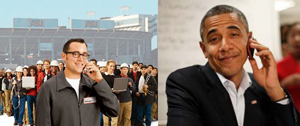 U.S. President Barack Obama broke into a recent Verizon Wireless commercial and explained